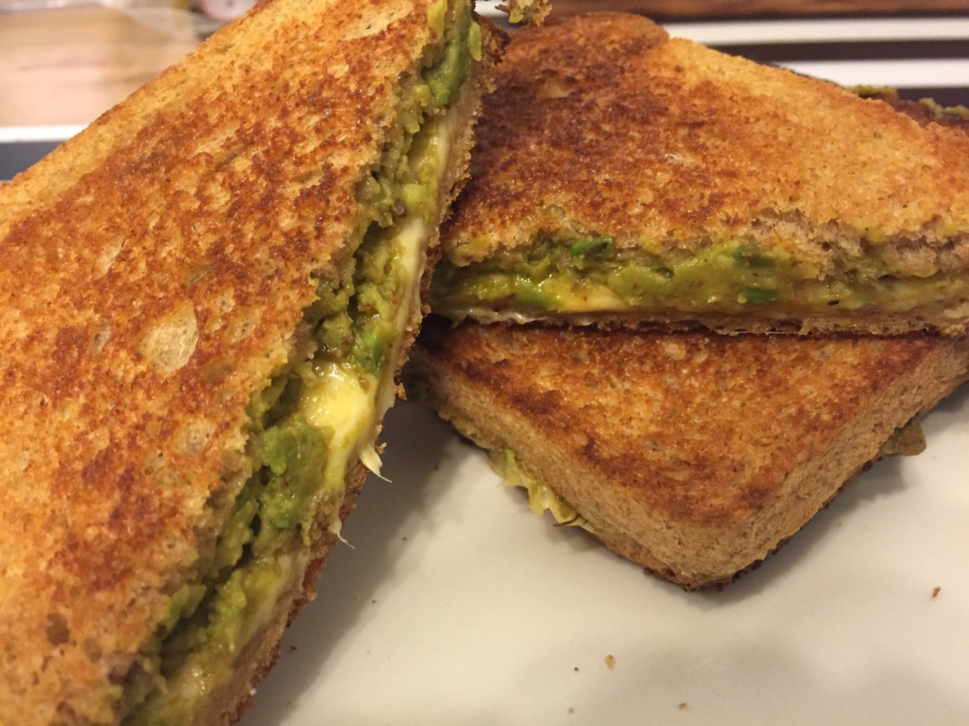 Spicy Avocado Grilled Cheese