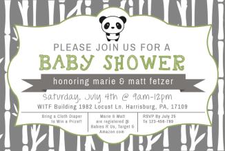 Baby Shower Invite | TSetzlerDesigns.com