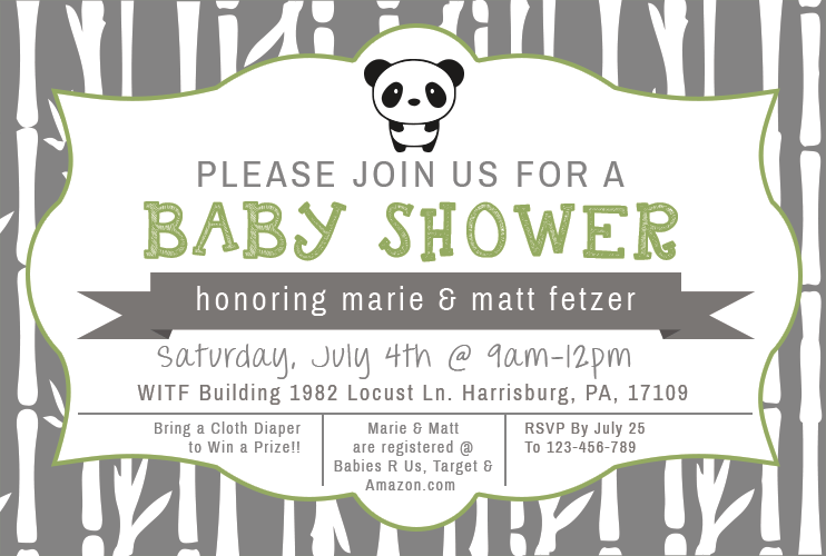 Baby Shower Invite | TSetzlerDesigns.com