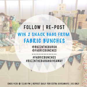 FabricBunches Instagram - BuzzNTheBurgh.com | TiffSetzler.WordPress.com