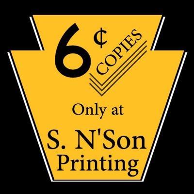 S. N'Son Printing - BuzzNTheBurgh.com | TiffSetzler.WordPress.com