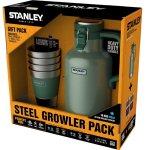 Vacuum Growler & Stacking Steel Tumblers