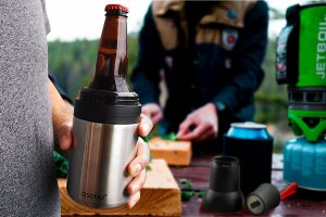 Vacuum Insulated Double Walled Stainless Steel Beer Bottle Koozie