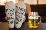Please Bring Me Beer Socks