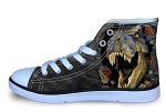 High Top Canvas Dinosaur Shoes