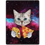 Taco Pizza Cat Blanket